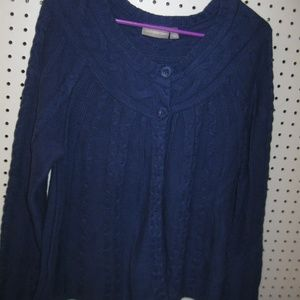 Beautiful Sweater Jacket By Croft & Barrow